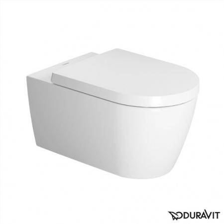 Duravit ME by Starck Miska WC podwieszana 37x57 cm, lejowa, biała z powłoką WonderGliss 25280900001