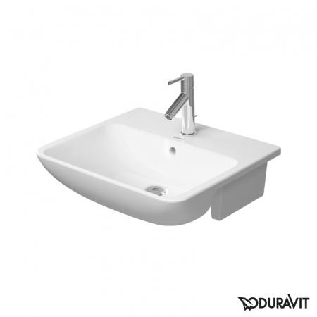Duravit ME by Starck Umywalka półblatowa 55x45,5 cm 1-otworowa, biała 0378550000