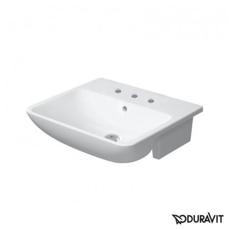 Duravit ME by Starck Umywalka półblatowa 55x45,5 cm 3-otworowa, biała 0378550030