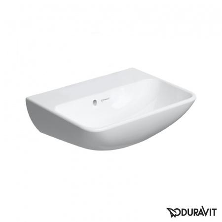 Duravit ME by Starck Umywalka wisząca 45x32 cm, z jednym otworem na baterię, z przelewem, biała z powłoką WonderGliss 07194500101