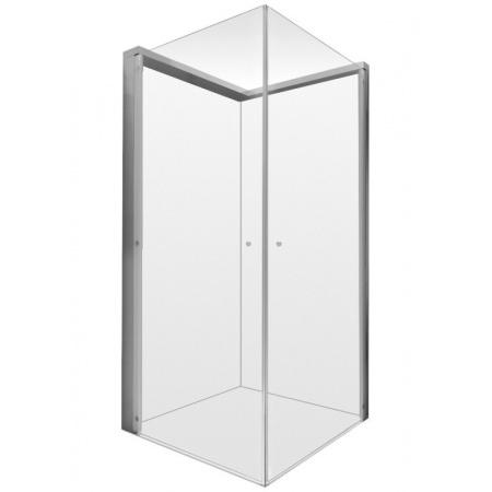 Duravit OpenSpace Kabina prostokątna 90x80x205 cm profile chrom szkło przezroczyste i lustrzane 770004000100000
