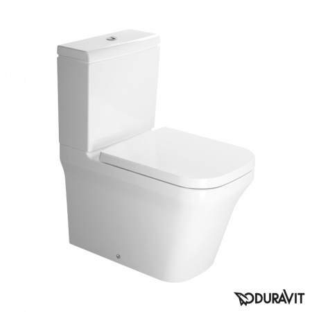 Duravit P3 Comforts Miska WC stojąca kompaktowa 38x65 cm Rimless, lejowa, biała 2167090000