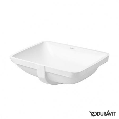 Duravit Starck 3 Umywalka blatowa 49x36,5 cm, bez otworu na baterię, z przelewem, biała 0305490022