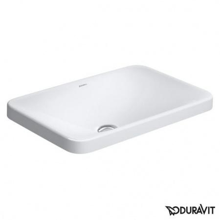 Duravit P3 Comforts Umywalka blatowa 55x36 cm, bez otworu na baterię, z przelewem, biała z powłoką WonderGliss 03775500001