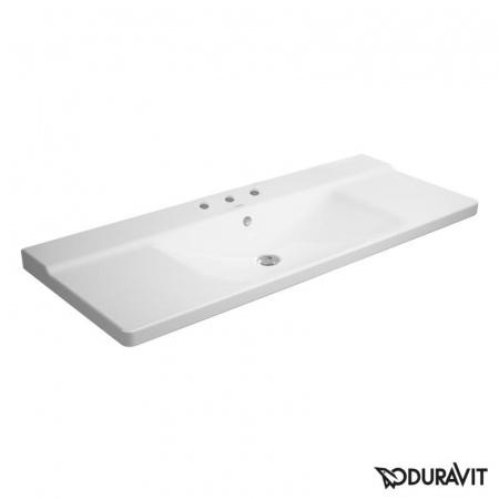 Duravit P3 Comforts Umywalka meblowa 125x50 cm 3-otworowa, biała 2332120030