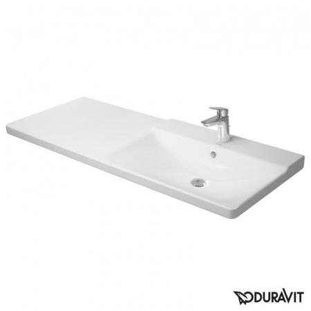 Duravit P3 Comforts Umywalka meblowa asymetryczna 125x50 cm 1-otworowa prawa, biała 2334120000