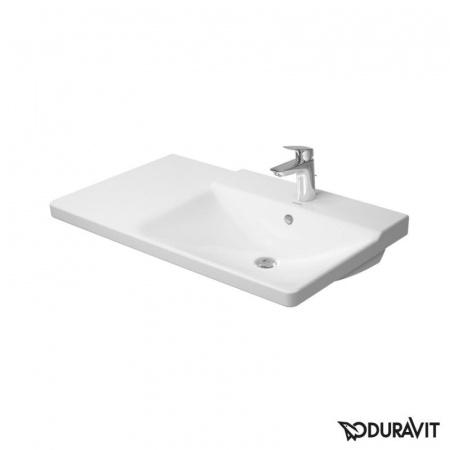 Duravit P3 Comforts Umywalka meblowa asymetryczna 85x50 cm, z jednym otworem na baterię, z przelewem, biała 2334850000