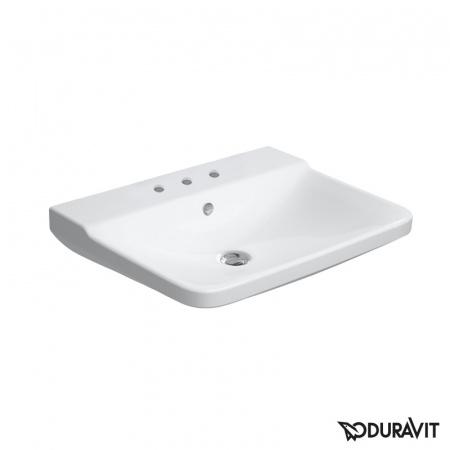Duravit P3 Comforts Umywalka wisząca 60x47 cm 3-otworowa z przelewem, biała 2331600030