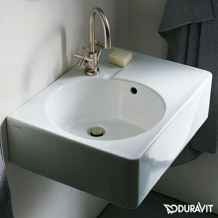 Duravit Scola Umywalka uniwersalna 61,5x46 cm, z przelewem, biała z powłoką WonderGliss 06856000111