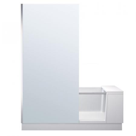 Duravit Shower&Bath Wanna narożna 170x75 cm z drzwiami, parawanem i stelażem lewa, biała szkło lustrzane 700403000100000