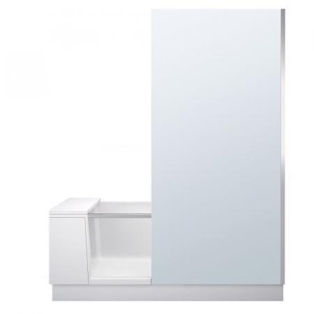 Duravit Shower&Bath Wanna narożna prawa 170x75 cm z drzwiami, parawanem i stelażem, biała szkło lustrzane 700404000100000