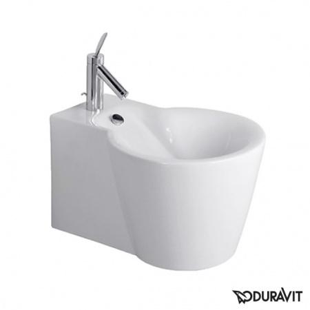 Duravit Starck 1 Bidet podwieszany 41x57,5 cm, z przelewem, biały z powłoką WonderGliss 02741500001