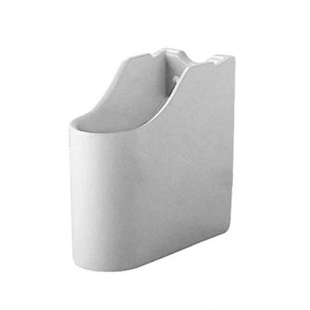Duravit Starck 1 Półpostument 18,5x38,5 cm, biały z powłoką WonderGliss 08635200001