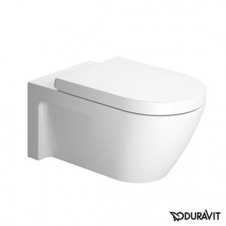 Duravit Starck 2 Miska WC podwieszana 37,5x62 cm, lejowa, biała z powłoką WonderGliss 25330900001