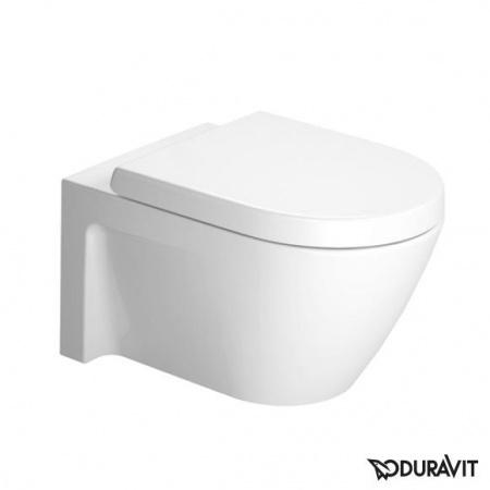 Duravit Starck 2 Miska WC podwieszana 37x54 cm, lejowa, biała z powłoką WonderGliss 25340900001