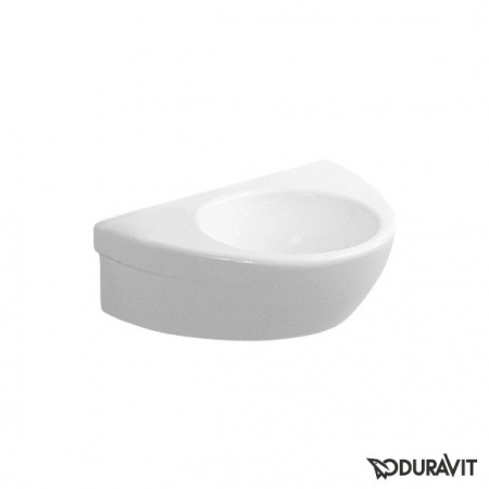 Duravit Starck 2 Umywalka wisząca mała 38x26 cm,bez przelewu, biała z powłoką WonderGliss 07613800001