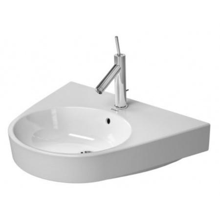 Duravit Starck 2 Umywalka wisząca 65x50 cm, z przelewem, biała z powłoką WonderGliss 23236500001