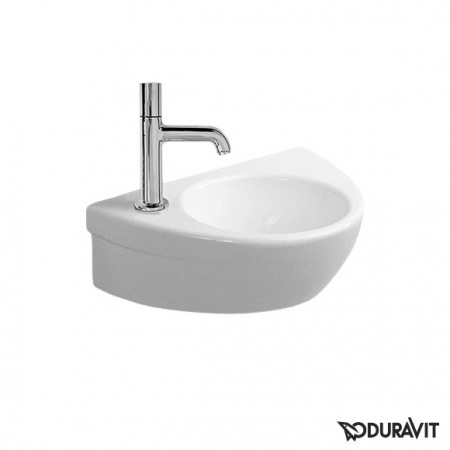 Duravit Starck 2 Umywalka wisząca mała 38x26 cm, bez przelewu, otwór na baterię z lewej strony, biała 0761380009
