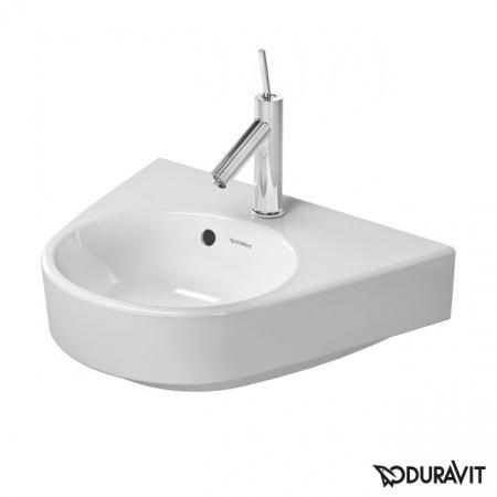 Duravit Starck 2 Umywalka wisząca mała 50x39 cm, z przelewem, z jednym otworem na baterię, biała 0714500000