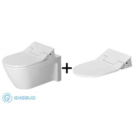 Duravit Starck 2 Zestaw Toaleta WC podwieszana 62x37,5 cm z deską sedesową myjącą SensoWash, biały 2533590000+611000002004300