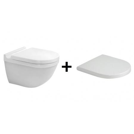 Duravit Starck 3 Toaleta WC podwieszana 54x36 cm z deską sedesową wolnoopadającą, biały 2225090000+0063890000