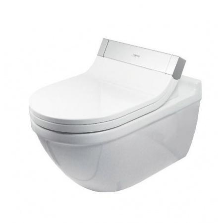Duravit Starck 3 Miska WC podwieszana 37x62 cm do SensoWash, lejowa, biała z powłoką WonderGliss 22265900001