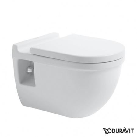 Duravit Starck 3 Miska WC podwieszana Comfort 36x54,5 cm, lejowa, biała z powłoką WonderGliss 22150900001