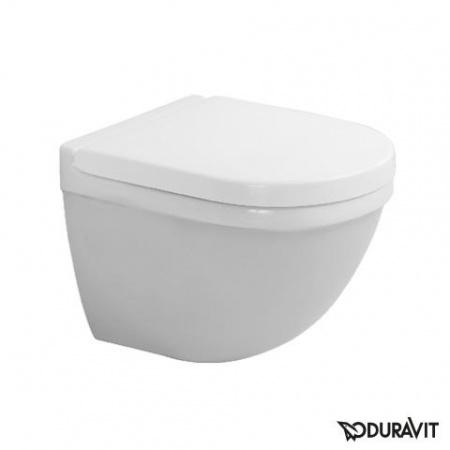 Duravit Starck 3 Toaleta WC podwieszana 48,5x36 cm Compact krótka z powłoką WonderGliss, biała 22270900001