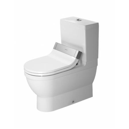 Duravit Starck 3 Miska WC stojąca 37x70,5 cm do SensoWash, lejowa, biała z powłoką WonderGliss 21415900001