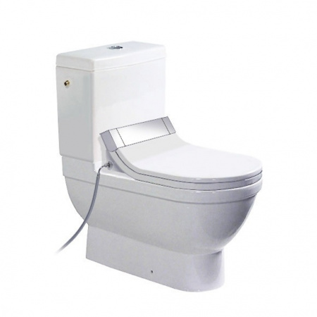 Duravit Starck 3 Miska WC stojąca 37x70,5 cm, lejowa, biała z powłoką WonderGliss 21410900001