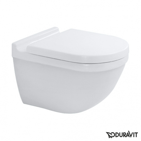 Duravit Starck 3 Toaleta WC podwieszana 54x36 cm Rimless bez kołnierza, biała 2527090000