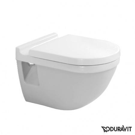 Duravit Starck 3 Muszla klozetowa miska WC podwieszana 36x54 cm lejowa, biała z powłoką WonderGliss 22000900001