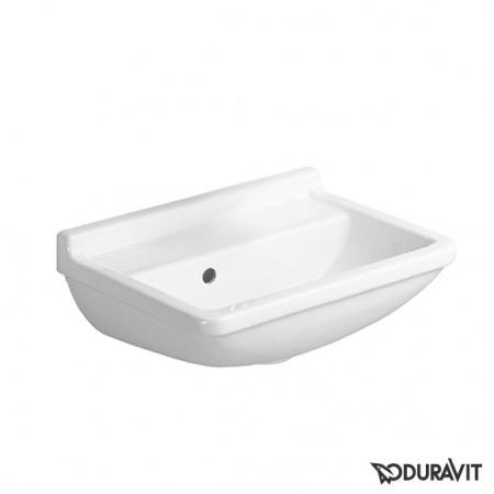 Duravit Starck 3 Umywalka mała 45x32 cm, bez otworu na baterię, biała z powłoką WonderGliss 07504500101