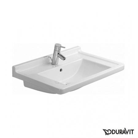Duravit Starck 3 Umywalka meblowa 70x49 cm, z jednym otworem na baterię, biała 0304700000