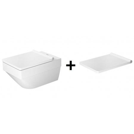 Duravit Vero Air Zestaw Toaleta WC podwieszana 57x37 cm Rimless z deską sedesową wolnoopadającą, biały 2525090000+0022090000