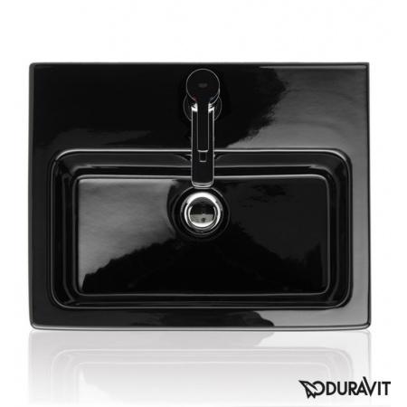 Duravit Vero Umywalka meblowa mała 45x35 cm z otworem na baterie, czarna z powłoką WonderGliss 07044508001