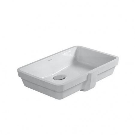 Duravit Vero Umywalka podblatowa 48,5x31,5 cm bez otworu na baterię z przelewem, biała 0330480000