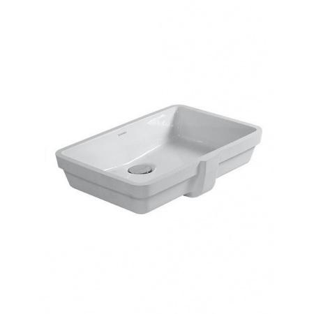 Duravit Vero Umywalka podblatowa 48,5x31,5 cm, bez otworu na baterie, biała z powłoką WonderGliss 03304800221