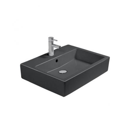 Duravit Vero Umywalka nablatowa 59,5x46,5 cm z otworem na baterię, czarna 0452600800
