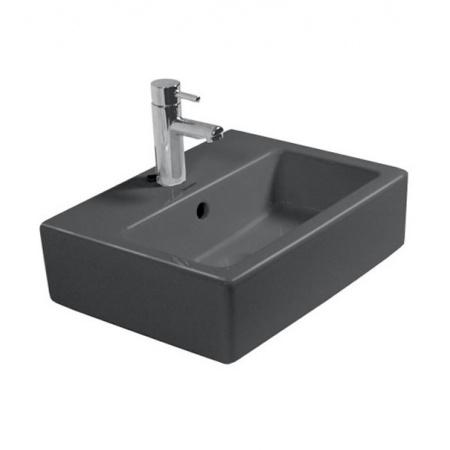 Duravit Vero Umywalka szlifowana mała 45x35 cm z jednym otworem na baterie, czarna z powłoką WonderGliss 07044508271
