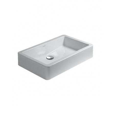 Duravit Vero Umywalka szlifowana stawiana na blat 60x38 cm bez otworu na baterie, biała 0455600000