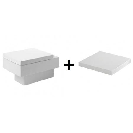 Duravit Vero zestaw miska WC wisząca z deską wolnoopadającą, białe 2217090064+0067690000