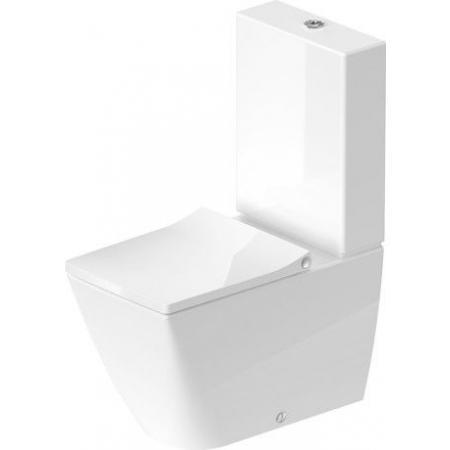 Duravit Viu Toaleta WC kompaktowa 37x65 cm Rimless bez kołnierza, biała z powłoką HygieneGlaze 2191092000