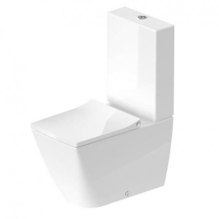 Duravit Viu Toaleta WC kompaktowa 37x65 cm Rimless bez kołnierza, biała z powłoką WonderGliss 21910900001