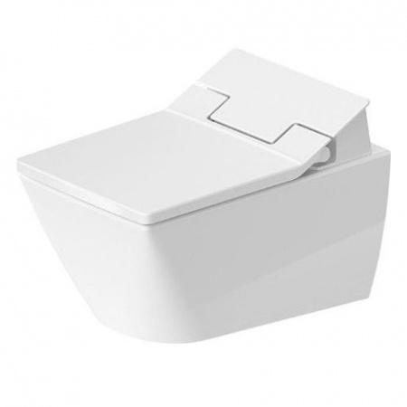 Duravit Viu Toaleta WC myjąca podwieszana do SensoWash 37x57 cm Rimless bez kołnierza, biała z powłoką WonderGliss 25115900001