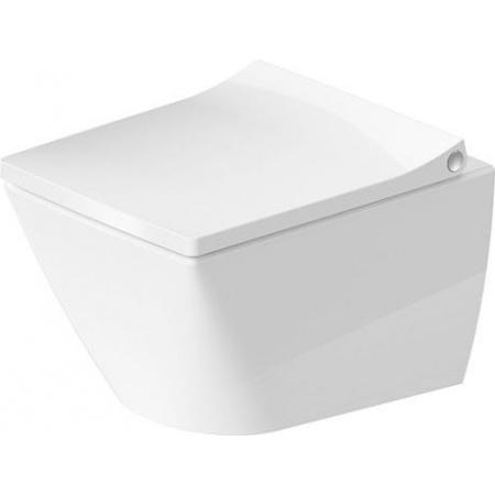Duravit Viu Toaleta WC podwieszana 36,5x48 cm Rimless bez kołnierza, biała z powłoką HygieneGlaze 2573092000