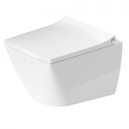 Duravit Viu Toaleta WC podwieszana 36,5x48 cm Rimless bez kołnierza, biała z powłoką WonderGliss 25730900001
