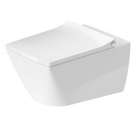 Duravit Viu Toaleta WC podwieszana 57x37 cm Rimless bez kołnierza, biała z powłoką WonderGliss 25110900001