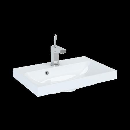 Elita Kwadro Umywalka meblowa 60x40x12,5 cm konglomeratowa, biała 22052008N