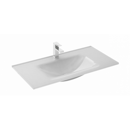 Elita Ozi Umywalka meblowa 81x40x10 cm szklana, biała 145125